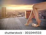 woman long legs  | Shutterstock . vector #301044533