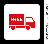 free delivery icon. this flat... | Shutterstock .eps vector #301053350