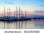 boats and yachts in marina...