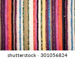 Colorful Lined Fabric With...
