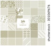 vector illustration of a set of ... | Shutterstock .eps vector #301069676