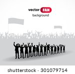 crowd of fans for sports and... | Shutterstock .eps vector #301079714