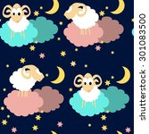 seamless pattern with cute... | Shutterstock .eps vector #301083500