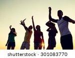 friendship  summer vacation ... | Shutterstock . vector #301083770