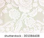 white openwork lace background.   Shutterstock . vector #301086608