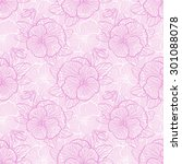 seamless floral pattern with... | Shutterstock . vector #301088078