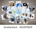 meeting communication planning... | Shutterstock . vector #301095839