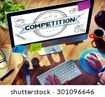 competition competitive... | Shutterstock . vector #301096646