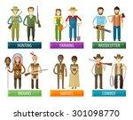people vector logo design... | Shutterstock .eps vector #301098770