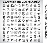 advertising and marketing icons ... | Shutterstock .eps vector #301099793