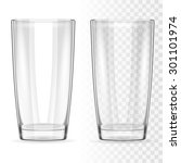 two transparent glass for water ... | Shutterstock .eps vector #301101974
