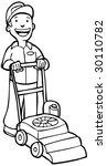 lawn mower man | Shutterstock . vector #30110782