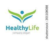 healthy life vector logo... | Shutterstock .eps vector #301108088
