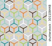 vector seamless pattern. modern ... | Shutterstock .eps vector #301108448