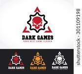 dark games vector logo template | Shutterstock .eps vector #301109198