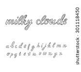 cute outlined hand written font ... | Shutterstock .eps vector #301118450