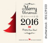 merry christmas and happy new... | Shutterstock .eps vector #301129103