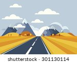 Vector Landscape Background....