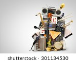 music  musical instruments and...   Shutterstock . vector #301134530