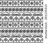 tribal art boho seamless... | Shutterstock .eps vector #301135313