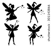 vector drawing of a fairy  elf | Shutterstock .eps vector #301143866