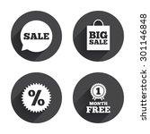 sale speech bubble icon....   Shutterstock .eps vector #301146848