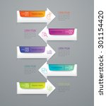 infographic design template and ...   Shutterstock .eps vector #301154420