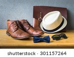 men's casual  bow tie with... | Shutterstock . vector #301157264