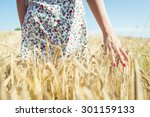 Woman Walking In The Wheat ...