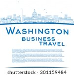 outline washington dc city... | Shutterstock .eps vector #301159484