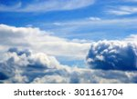 huge cumulus clouds against the ... | Shutterstock . vector #301161704