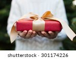 close up of nicely wrapped... | Shutterstock . vector #301174226