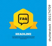 faq information sign icon. help ... | Shutterstock .eps vector #301174709