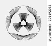 black abstract fractal shape... | Shutterstock .eps vector #301192088