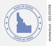 made in idaho seal. sign of... | Shutterstock .eps vector #301192358