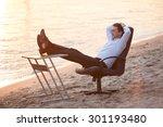 business on the beach   relaxing | Shutterstock . vector #301193480