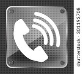 glass telephone receiver icon...