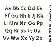 english alphabet. decorative... | Shutterstock .eps vector #301193873