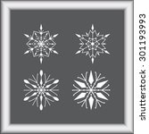 snowflake sign icons  vector... | Shutterstock .eps vector #301193993