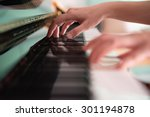 playing piano  soft focus  | Shutterstock . vector #301194878