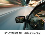 speed driving car in the night... | Shutterstock . vector #301196789