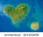 Aerial View Of The Heart Shape...