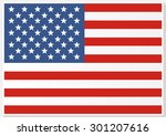 american flag. flag of the... | Shutterstock . vector #301207616