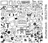 hand drawn sketch icons for... | Shutterstock .eps vector #301217546