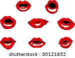 air kiss  kissing lips ... | Shutterstock .eps vector #30121852