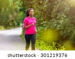 african american woman runner... | Shutterstock . vector #301219376