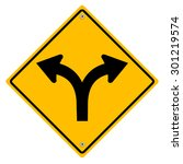 yellow sign with arrows. | Shutterstock . vector #301219574