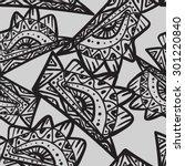 seamless black and white...   Shutterstock .eps vector #301220840