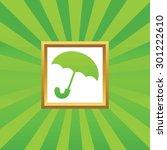 image of open umbrella in...