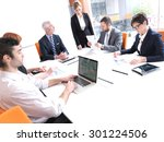business people group on... | Shutterstock . vector #301224506